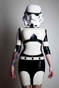 Star Wars Inspired Rubber Latex Mini Dress
