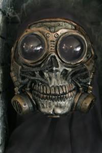 Steampunk Froggle Full Face Skull Gas mask 3