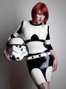 Star Wars Inspired Rubber Latex Mini Dress