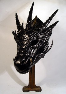 Black Dragon Leather Mask