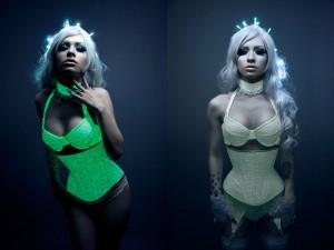 Glow Lace Corset Bras