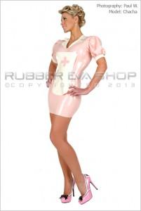Sexy Rubber Nurse Dress 1