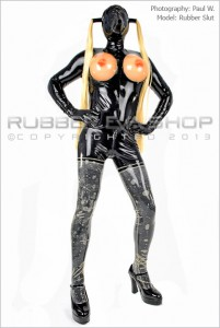 Mens Rubber Titty Catsuit 2