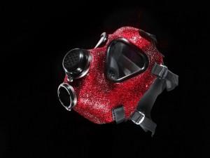 Rhinestone Gasmask 3