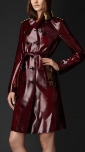 Ladys Rubber Trench Coat