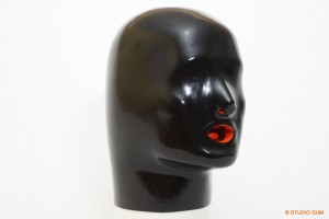 Anatomical Latex Mask Closed Eyes