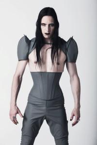 Mens PVC Underbust corset