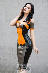 SUSANNA Corseted Latex Minidress 1