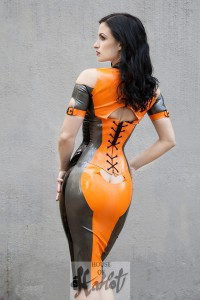 SUSANNA Corseted Latex Minidress 2
