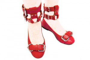 Double Cuff Ballerina red