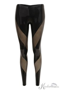 Paneled Latex Leggings