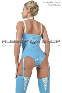Latex Stockings With V Shaped Back Detail