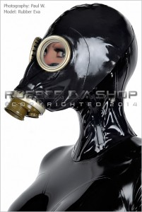 Rubber Russian Gas Mask Neck Corset 1