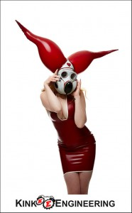 Gasmask with inflatable horns