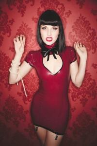 Alice mini latex dress