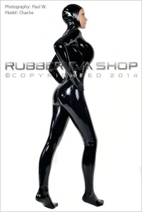 Open Faced Rubber Total Enclosure Catsuit 1