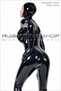 Open Faced Rubber Total Enclosure Catsuit 3