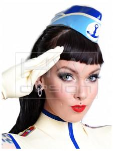 Latex Sailor Cap Gauntlets