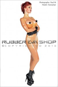 Underwired Half Cup Bra Latex Catsuit 1