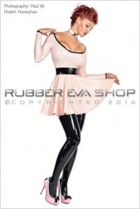 Short Rubber Circle Skirt