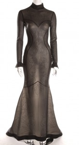 EMBOSSED EVENING DRESS