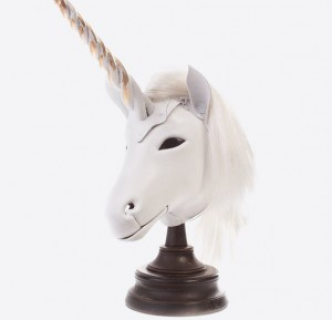 White Unicorn Art Leather mask