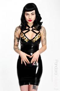 Faye Latex Harness Dress