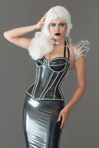Padded bust cup Glow in the Dark Overbust Corset 1