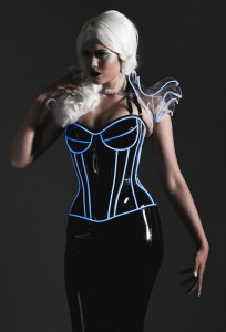 Padded bust cup Glow in the Dark Overbust Corset