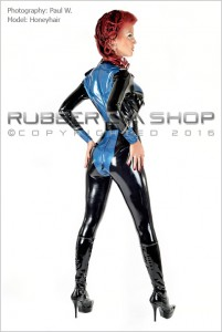 Officer Uniform Latex Catsuit 2