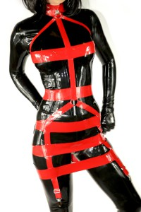 Latex Rubber Harness Dress