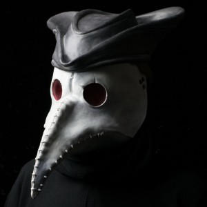 Dr Lazarou Plague doctor mask (white) with Tricorn hat