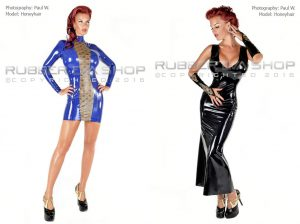 Laced-Latex-Dresses