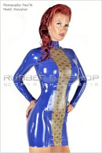 Laced Latex Panel Mini Dress 1