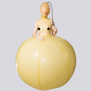 INFLATABLE BALL WITH SLEEVELESS TOP