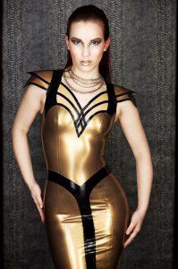 Nofretete Latex Dress front
