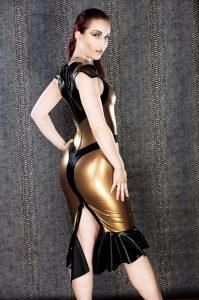 Nofretete Latex Dress side