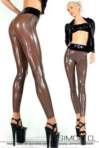 Skin tight Latex Legging with high waist