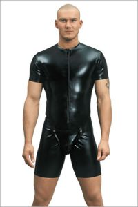 26012 Latex cycle suit with codpiece, 0,60 mm latex