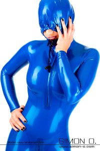 Hooded latex catsuit 2