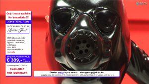 ラバーズファイネスト、ガスマスクタイプ全頭ラバーマスクの限定オファーを実施1