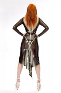 Latex Harness Gown back