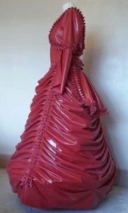 Latex Victorian Wedding Dress side