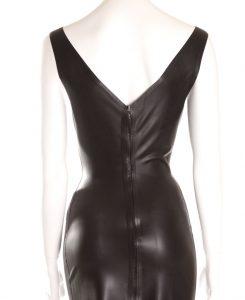 latex 50s dress back
