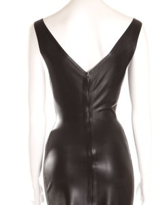 latex 50s dress back