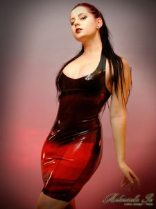 Black and red marble dress