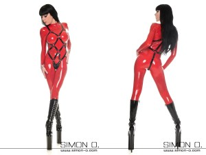 Ladies' Latex Body Harness by Simon.O