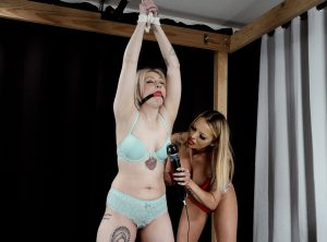 Arielle Aquinas Tickled and Orgasmed in Bondage by Bella Ink