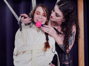 Ziva Fey Humbled in Straitjacket Suspension by Lydia Black