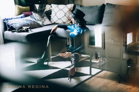 Mistress Gina Regina in blue transparent latex